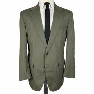 Brooks Brothers Sport Coat 40R Cotton Olive Green